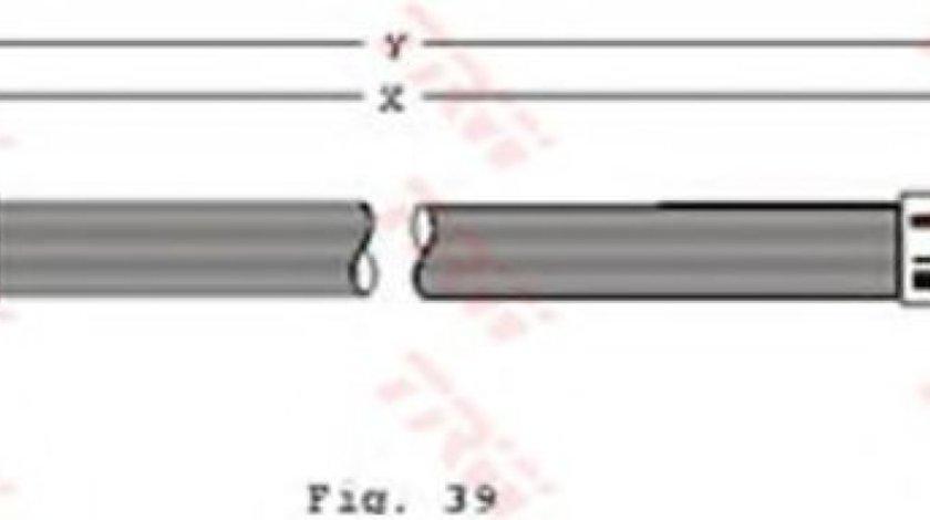 Conducta / cablu frana VW PASSAT (3A2, 35I) (1988 - 1997) TRW PHB128 produs NOU