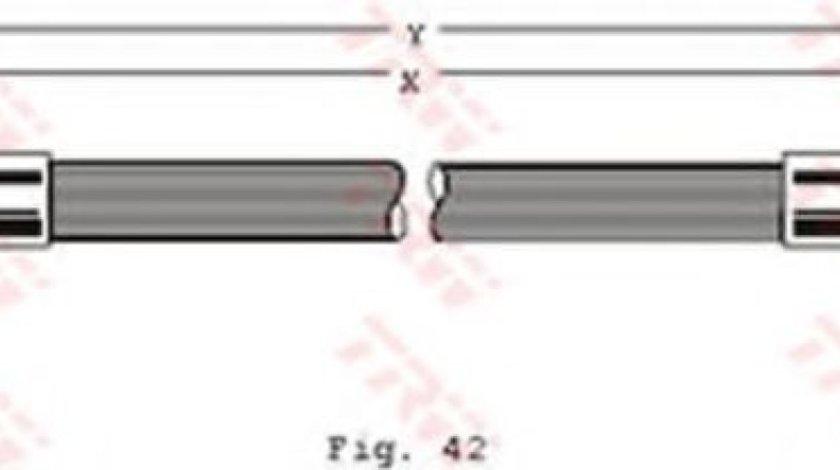 Conducta / cablu frana VW PASSAT (3A2, 35I) (1988 - 1997) TRW PHA262 produs NOU