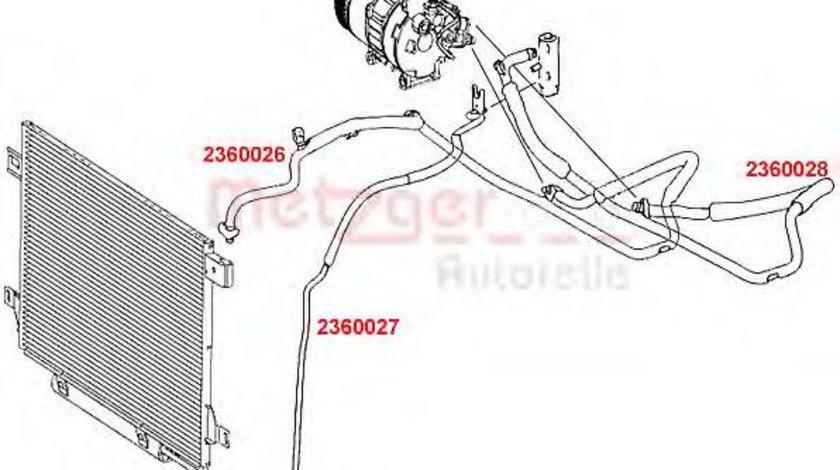 Conducta inalta presiune,aer conditionat MERCEDES A-CLASS (W169) (2004 - 2012) METZGER 2360026 piesa NOUA