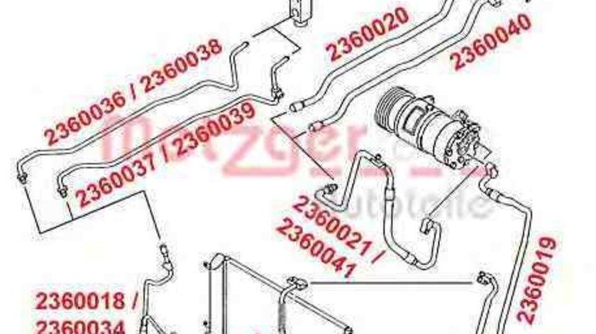 Conducta presiune variabila,aer conditionat VW SHARAN (7M8, 7M9, 7M6) VAG 7M3 820 729H