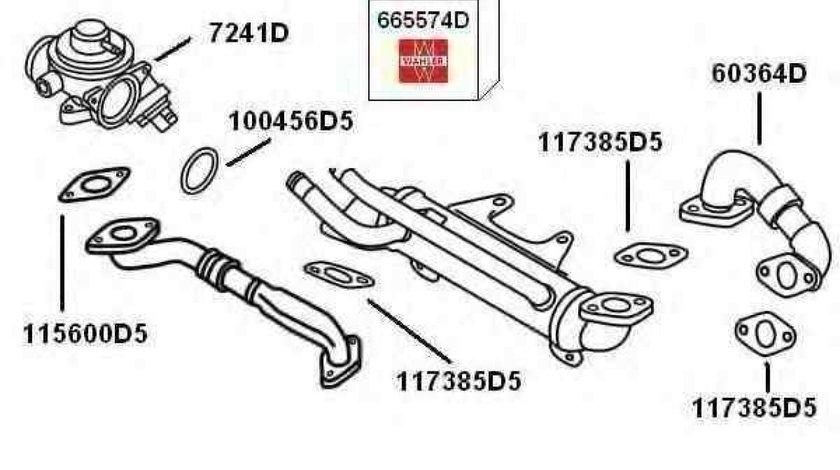 Conducta tubulara Supapa-AGR VW PASSAT 3B2 Producator WAHLER 60364D