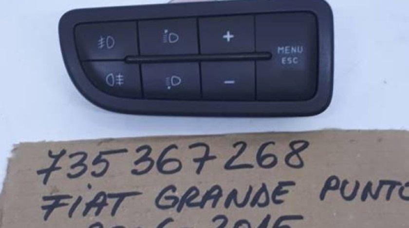 Consola / butoane reglare faruri Fiat Grande Punto 735367268 2006-2015