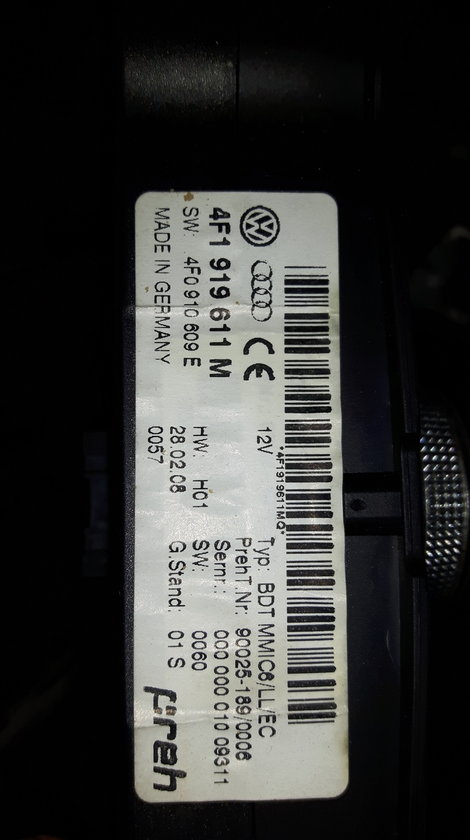 Consola navigatie MMI pentru Audi A6 4F C6 cod OE 4F1919611M