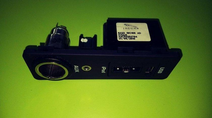 CONSOLA USB BRICHETA Jaguar XF X250 (2007-2015) + IPOD+AUX 8X23 19C166 AD 8X2319C166AD 30657961 CX2JA