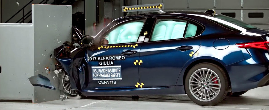 Construita sa isi protejeze pasagerii ca un tanc. Noua Giulia obtine punctaj maxim la testele americane de siguranta