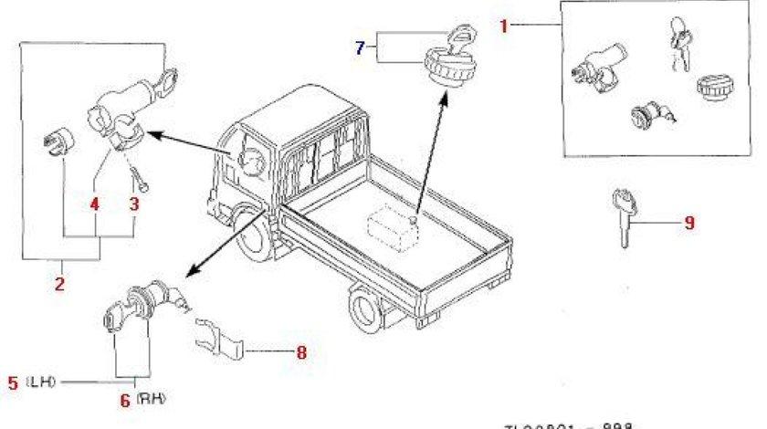 Contact pornire cu 2 chei Nissan Cabstar E (poz.2) NISSAN OE 48700-F3925