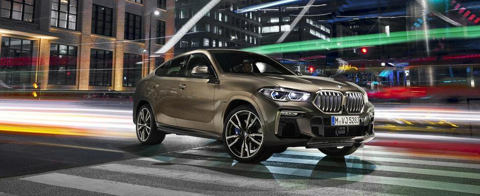Controversele continua. Noua generatie BMW X6 lansata oficial cu motor V8 si grila...iluminata inclusiv in mers