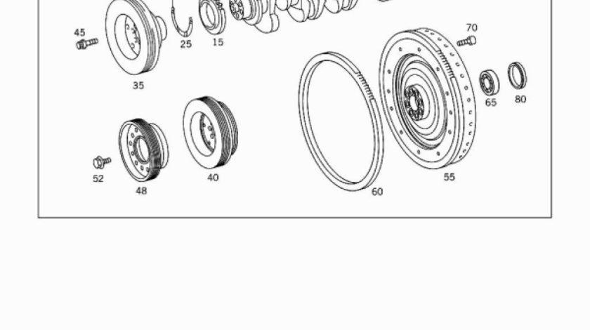 Coroana dintata motor 4.2 TD Mercedes Atego CEI 366 032 01 05