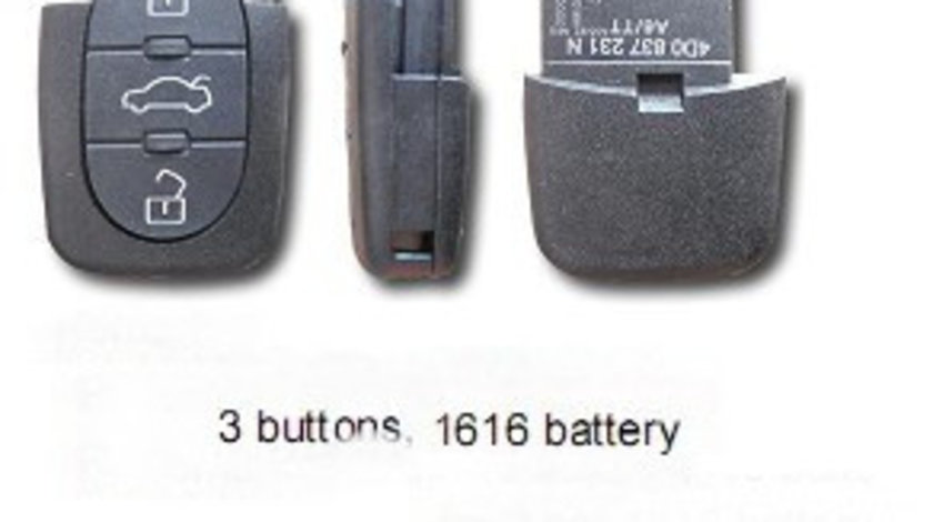 Corp telecomanda 3 butoane Rotunjite BRE119 - CT363738