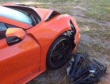 Corvette C8 distrus la doar o zi dupa livrare