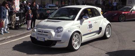 Costa cat un Audi R8 si are motor de Alfa Romeo si 350 de cai. VIDEO cu cel mai nebun Fiat 500 din lume