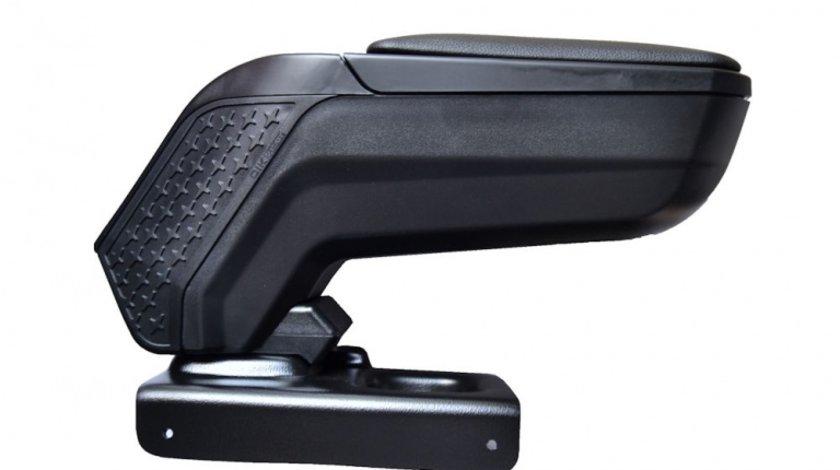 Cotiera ArmCik S4 pentru Golf 5, Golf 6 , Eos , Passat B5 (Lif) 2000-2005, Jetta, rabatabila cu capac culisabil, Negru