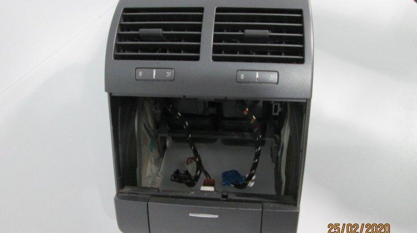 Cotiera + cal + suporti pahare + grile ventilatie + bricheta spate Vw Phaeton an 2003-2007