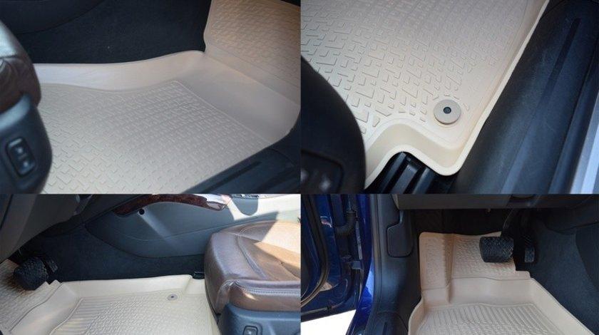 Covoare cauciuc stil tavita BEJ CITROEN C-CROSSER 2007-> (2D 0073, A10 BEJ ) AutoCars