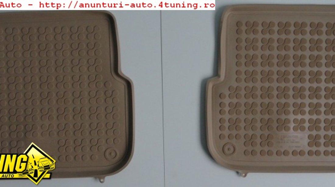 Covoare interior cauciuc bej Covoare interior auto AUDI A6 Limousine Sedan dupa 04 2004 Bej