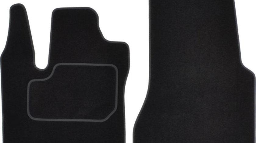 Covorase auto (fata, velur, 2 bucati, culoare negru) SMART FORTWO dupa 2014