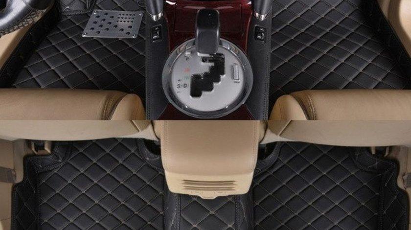 Covorase auto LUX PIELE 5D VW Touareg 2010-2017 ( 5D-013 cusatura bej ) ManiaCars