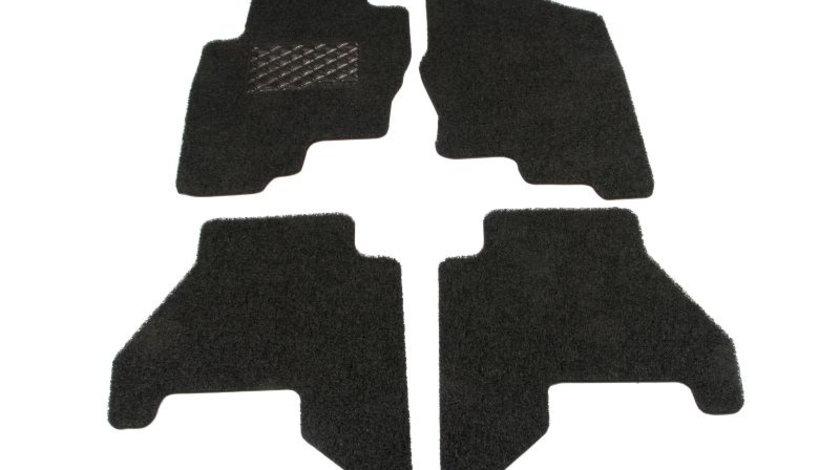 Covorase auto - set 4 bucati, negru, Geco System - Velcro; NISSAN PATHFINDER III dupa 2005