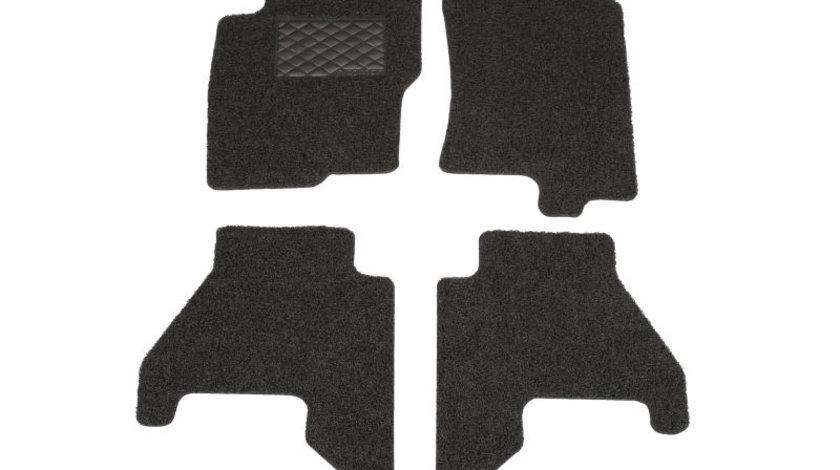 Covorase auto - set 5 piese, negru, Geco System - Velcro; NISSAN PATHFINDER IV (R52) dupa 2012