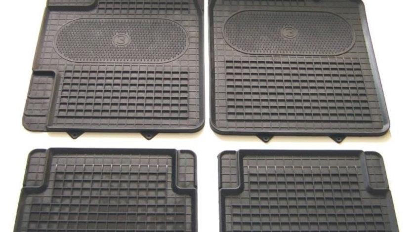 Covorase auto (set, cauciuc, 4 bucati, culoare negru, pentru decupaj) MERCEDES A (W168), A (W169); VOLVO 440 K, 480 E; ABARTH PUNTO; ALFA ROMEO 155, 164, 33; AUDI 100, A6, A8; BMW Seria 5 (E34), 7 (E3