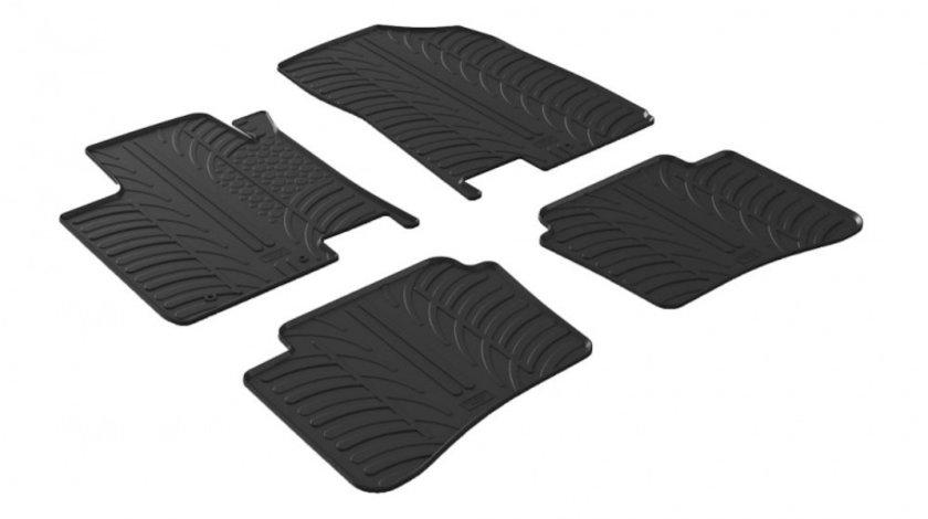 Covorase Hyundai I20 2014- Negru culoare Negru, presuri Gledring, 4 buc.