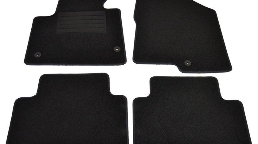 Covorase mocheta Hyundai SANTA FE 10/2012- Negru, set de 4 bucati