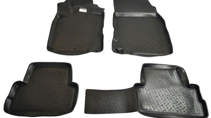 Covorase Nissan Qashqai 2 J11 2013- , presuri tip tavita BestAutoVest, culoare Negru, 4 buc.
