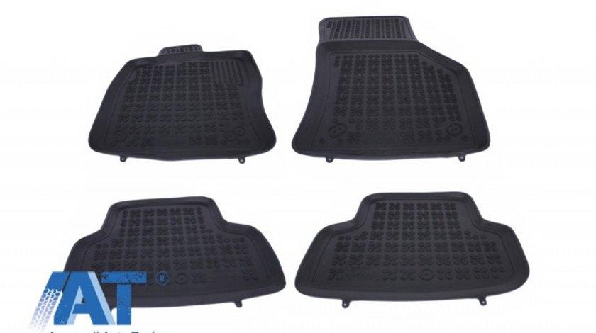 Covorase Presuri Auto Negru din Cauciuc compatibil cu AUDI A3 8V Sportback Sedan (2013-) S3 8V (2013-) compatibil cu VW Golf VII (2012-)
