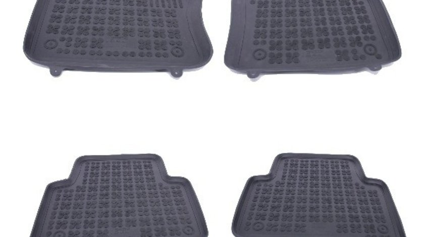 Covorase Presuri Auto Negru din Cauciuc compatibil cu VW Tiguan II 2015+