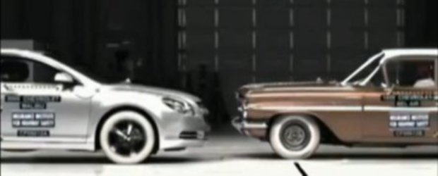 Crash Test: Chevrolet BelAir 1959 vs. Chevrolet Malibu 2009