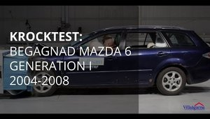 Crash Test cu masina ruginita: Mazda 6