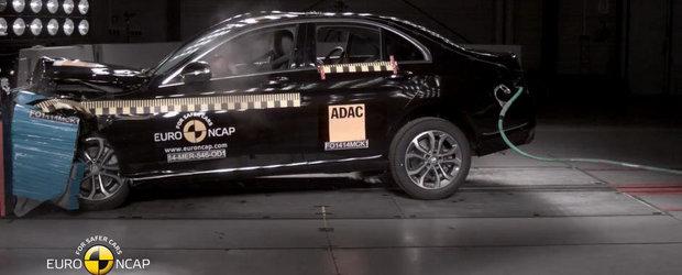 Crash Test Mercedes: Noul C-Class obtine cinci stele la testele EuroNCAP