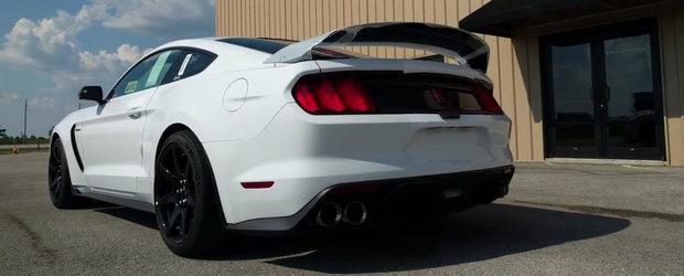 Credeai ca eleronul ala il incetineste? Urca la bordul noului Shelby GT350R si priveste-l cum depaseste 270 km/h!