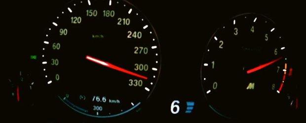 Cu 300 km/h pe autostrada Arad-Timisoara ca sa impresioneze o pitipoanca