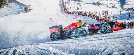 Cu monopostul de Formula 1... pe partia de schi