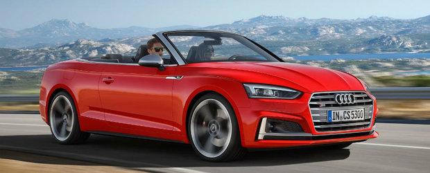 Cu pletele in vant in doar 15 secunde. Audi tocmai a lansat noua generatie A5 Cabrio
