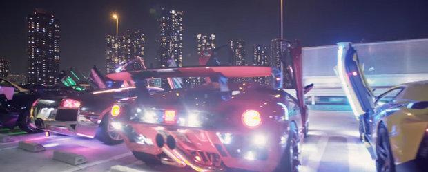 Cultura tuning-ului din Japonia este foarte ciudata. VIDEO cu supercar-uri iluminate mai ceva ca un brad de Craciun