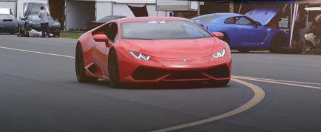 Cum accelereaza un Lamborghini Huracan de peste 2.000 de cai