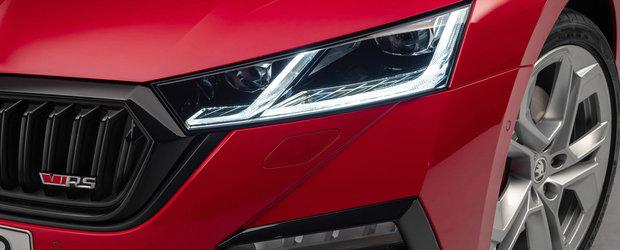 Cum arata in realitate noua Skoda Octavia RS, masina cu motor de 1.4 litri si 245 cai putere. VIDEO