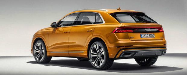 Cum arata in realitate noul Audi Q8, concurentul lui BMW X6 si Mercedes GLE Coupe. VIDEO