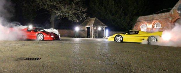 Cum arata o distractie de 1040 cp cu doua Ferrari F50 in rolurile principale