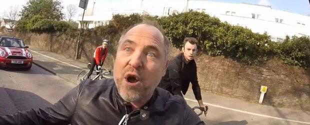 Cum arata prostia: un biciclist si un sofer dau dovada de idiotenie