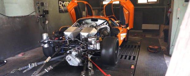 Cum arata si cum se aude un Saleen S7 de peste 2200 cp pe standul dyno