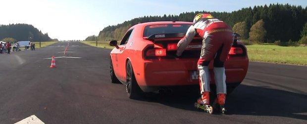 Cum arata viata la 200 km/h pe role, in spatele unui Challenger?