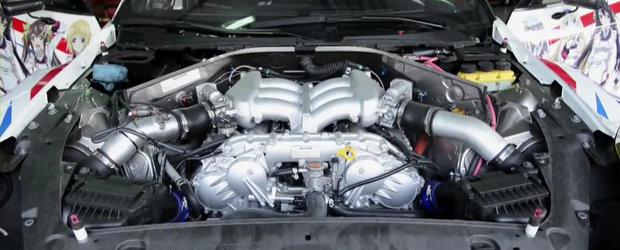 Cum este construit motorul supercarului Nissan GT-R
