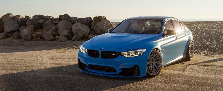 Cum poate arata acest BMW M3 cu jante HRE si culoare de Porsche