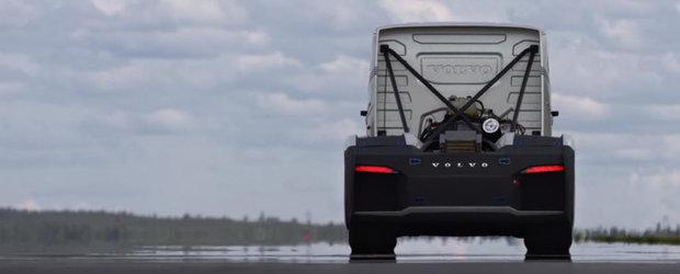 Cum poti dobori un record de viteza cu un camion de 2.400 de cai? Ne arata suedezii de la Volvo
