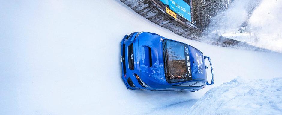 Cum s-o descurca un Subaru WRX STI pe o pista de bob?