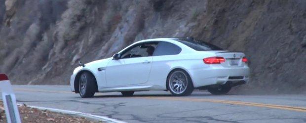 Cum sa faci drifturi cu un BMW M3 pe drumuri virajate