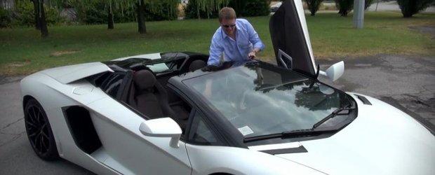 Cum sa scoti plafonul unui Lamborghini Aventador Roadster